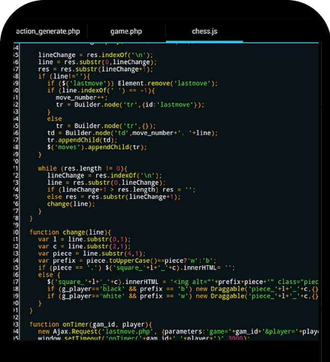Codi d'apps que s'estan creant a Girona