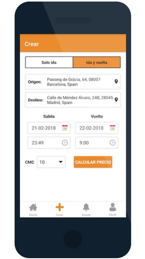 Aplicació mòbil per anar a Girona amb bus de forma barata